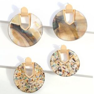 Sassy Shell Disc Statement Drop Earrings